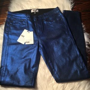 PAIGE Jeans Coated Collection JNWT Blue Size 29